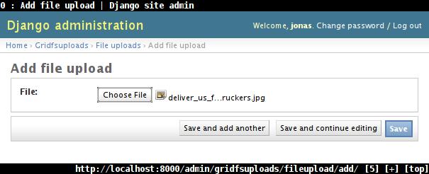 Django resume file upload